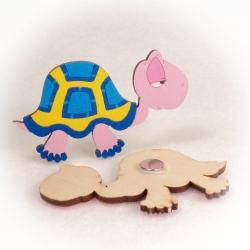 Dřevěné magnetky - Želva